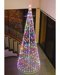 Homebrite Solar String Light Cone Tree Christmas Decoration With Multi Colored Lights 61377