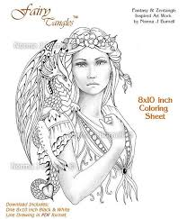 93 Best Fairy TanglesTM Coloring For Adults Images On Pinterest
