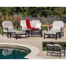 Sirio Patio Furniture Replacement Cushions by San Paulo 7 Piece Seating Set