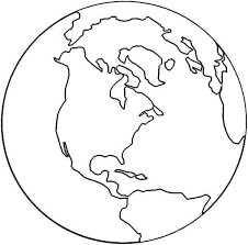 Earth Template Globe Coloring Page