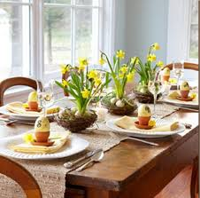 Tall Order With Daffodils Sprouting From Grapevine Birds Nests An Easter Table Becomes A Spring Sanctuary Repot The Plants Bulbs And All In