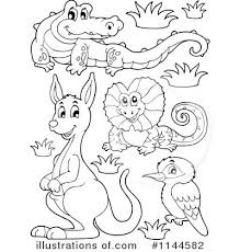 Australian Animals Colouring Templates Australia Coloring Pages Printable Free Kids Activities