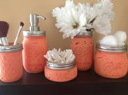 Rustic Mason Jar Bathroom Set