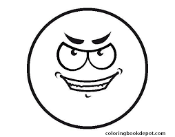 Evil Smiley Colorear Coloring Pages