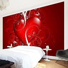 apalis vliestapete floral fototapete breit vlies tapete wandtapete wandbild foto 3d fototapete für schlafzimmer wohnzimmer küche rot 108070