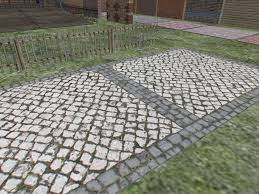 High Resolution Seamless Ornamental Cobblestone Floor Panel With Full Perm Stone Texture Included 8600