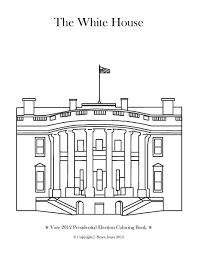 Coloring S White House And Page
