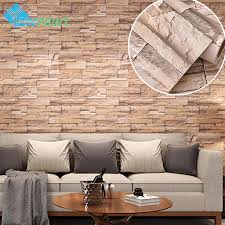 5M Modern Vinyl Self Adhesive Wallpaper Pvc Waterproof Stone Wallpapers Gray White Brick Wall Stickers For Bedroom Home Decor