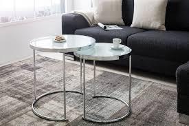 couchtisch beistelltisch deko wohnzimmer 2er set metall glas