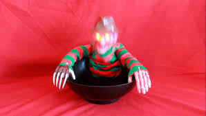Halloween Candy Dishes by Demo Of A Nightmare On Elm Street Freddy Krueger Animated Light Up