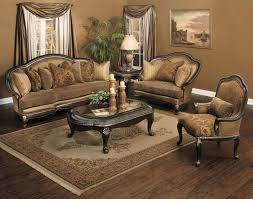 Furniture Traditional Living Room With Wooden Floor And Carpet Curtain Lamp