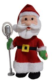 Christmas Santa Claus Singing Dancing With Microphone By BOOLAJ