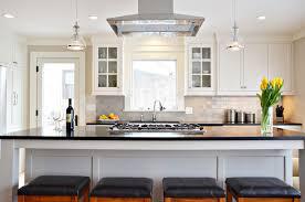light grey subway tile kitchen