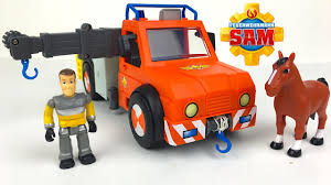 100 Tow Truck Phoenix UNBOXING FIREMAN SAM PHOENIX RESCUE CRANE TRUCK STORY WITH
