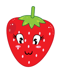 This cute cartoon strawberry clip art done in cool kawaii style is free for personal or