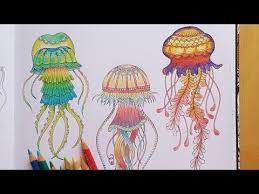 Download Video Lost Ocean Speed Colouring Green Fluorescent Jellyfish