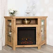 Southern Enterprises Redden Corner Electric Fireplace Tv by Utilize Your Corner Space With This 48 U0027 Wood Media Stand With