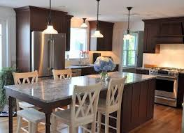Long Kitchen Islands With Seating