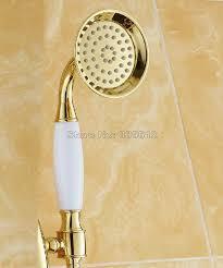 gold farbe messing moderne telefon stil keramik badezimmer duschkopf bad handbrause zubehör whh010