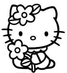 Hello Coloring Page For Kids And Adults From Cartoon Characters Pages Kitty