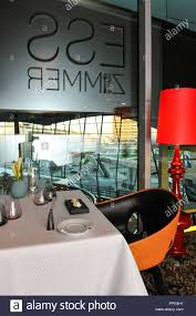 the restaurant esszimmer in the bmw welt in munich stock