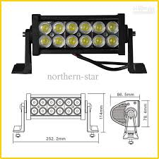7 5inch 3w led work light bar 36w 10 30v epistar spot flood combo