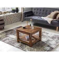 couchtisch massiv holz sheesham wohnzimmer tisch design dunkel braun landhaus stil beistelltisch b h t ca 60 45 60cm