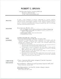 An Example Of A Good Resume Great