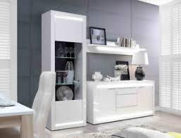 details zu wohnwand livorno 21 hochglanz weiß 3 teilig tv wand led beleuchtung wohnzimmer