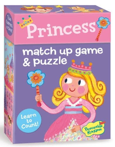 Peaceable Kingdom Princess Match Up Games & Puzzles