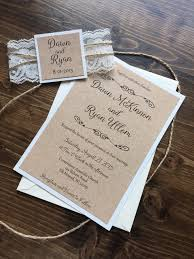 Barn And Lace Rustic Wedding Invitation Template