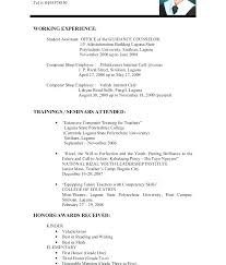 Experience On Resume Examples No Example Sample Resumes For High School Students With