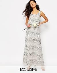 maya chiffon maxi dress with embellishment not my wedding