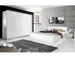 schlafzimmer 20c weiß teils hochglanz bett 2x nako schrank led expendio
