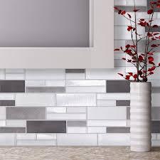 Best Glass Tile Nippers by Aluminum Glass Tile Backsplash Ice Blend Bathroom Fireplace
