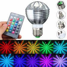 e27 b22 gu10 e14 5w dimmable rgb color changing led light bulb