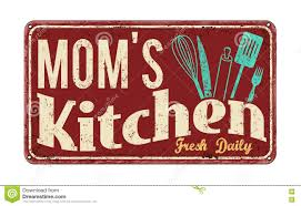 Moms Kitchen On Vintage Rusty Metal Sign Royalty Free Stock Photo