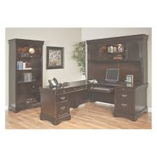 Office Desk L Shaped Glass Computer Rustic With
