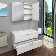 spiegelschrank badspiegel spiegel curve 100cm mdf