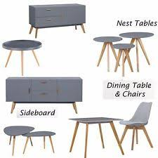 Retro Scandinavian Home Furniture TV Stand Nest Table Side Dining Coffee