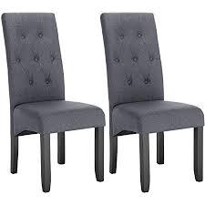 woltu esszimmerstühle bh106dgr 2 2er set küchenstuhl lehnstuhl polsterstuhl mit hoher rückenlehne beine aus massivholz gepolsterte sitzfläche aus
