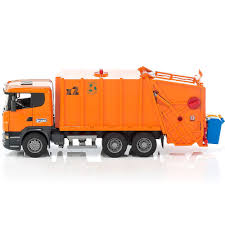 100 Garbage Truck Youtube Bruder Scania RSeries Orange Toy Educational Toys