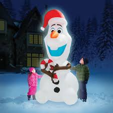 Halloween Blow Up Yard Decorations Canada by The 8 U0027 Inflatable Olaf Hammacher Schlemmer