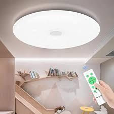 shilook led deckenleuchte dimmbar mit fernbedienung 24w 40cm rund deckenle sternenhimmel modern für schlafzimmer kinderzimmer wohnzimme weiß