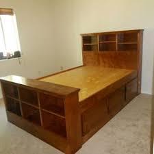 Ana White Farmhouse Headboard by Farmhouse Bed With Storage And Bookshelf Footboard Do It