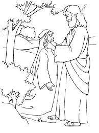 Jesus Heals A Deaf Mute Coloring Page