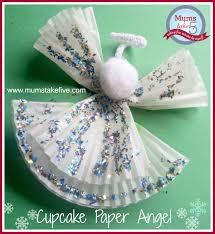 Cake Liner Christmas Angel And Tree