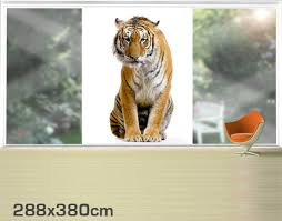 huis fensterfolie fenstersticker no 127 bengalischer tiger