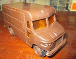 Toy Car, UPS Delivery Truck, Vintage 1977. Brown Plastic With ...