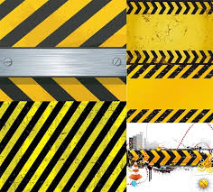 Warning with a pattern vector Free vector in Encapsulated